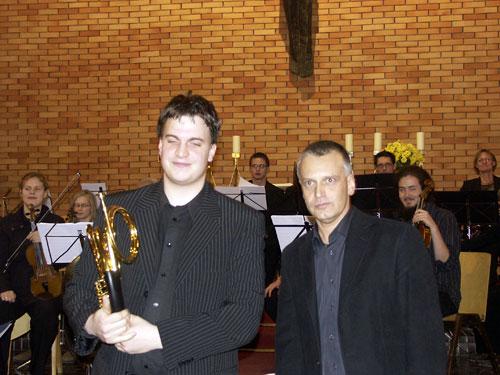 Solist Vlaschits und Dirigent Krenn