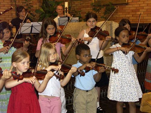 Geigenschülerinnen