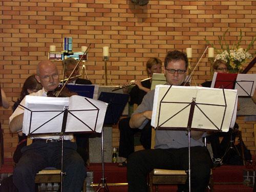Musiker in Nahaufnahme