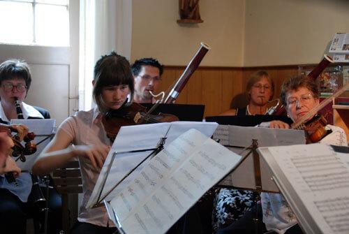 Musiker und Noten