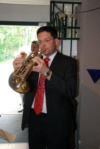 Trompete beim Einspielen