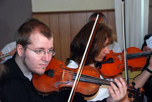 Geigen in Nahaufnahme