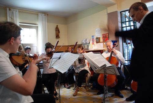 Gruppe von Musikern