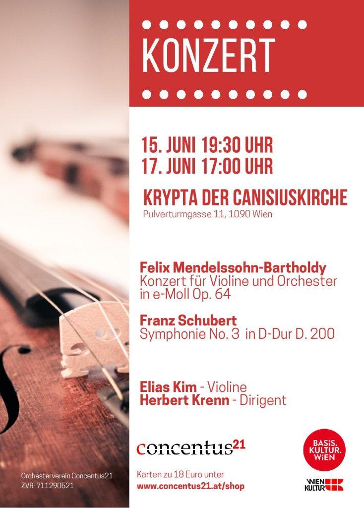 Konzertplakat Sommerkonzert mit Elias Kim