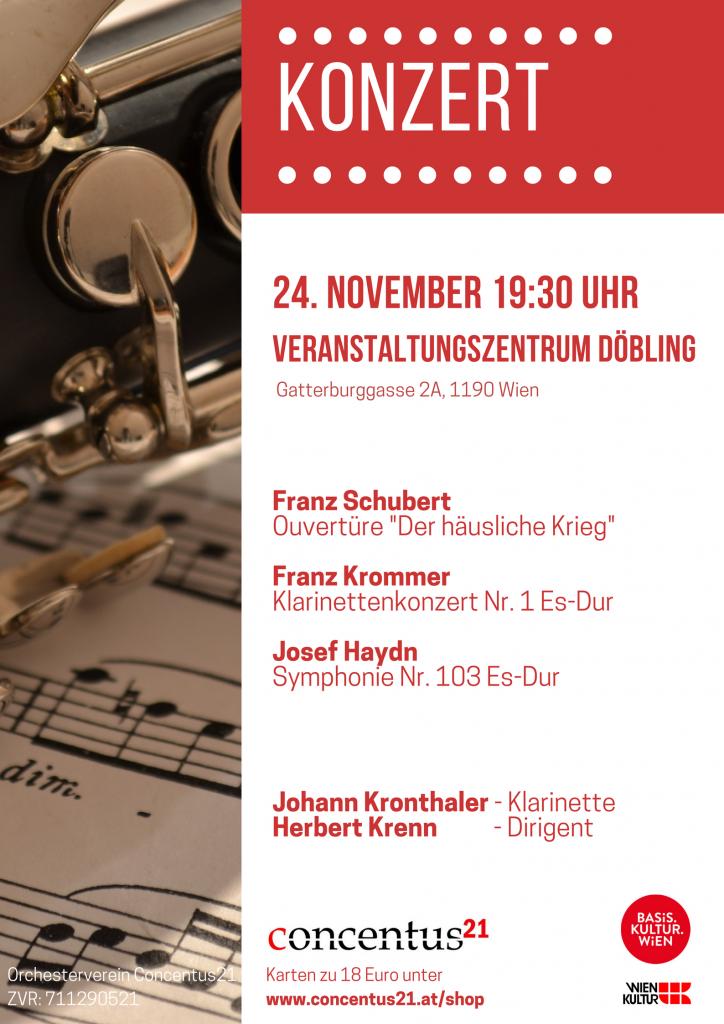 Konzertplakat Herbstkonzert 2018 Döbling