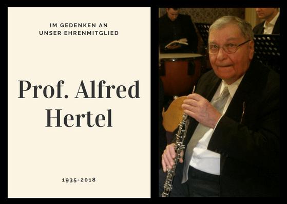 Ehrenmitglied Professor Alfred Hertel (1935 - 2018)
