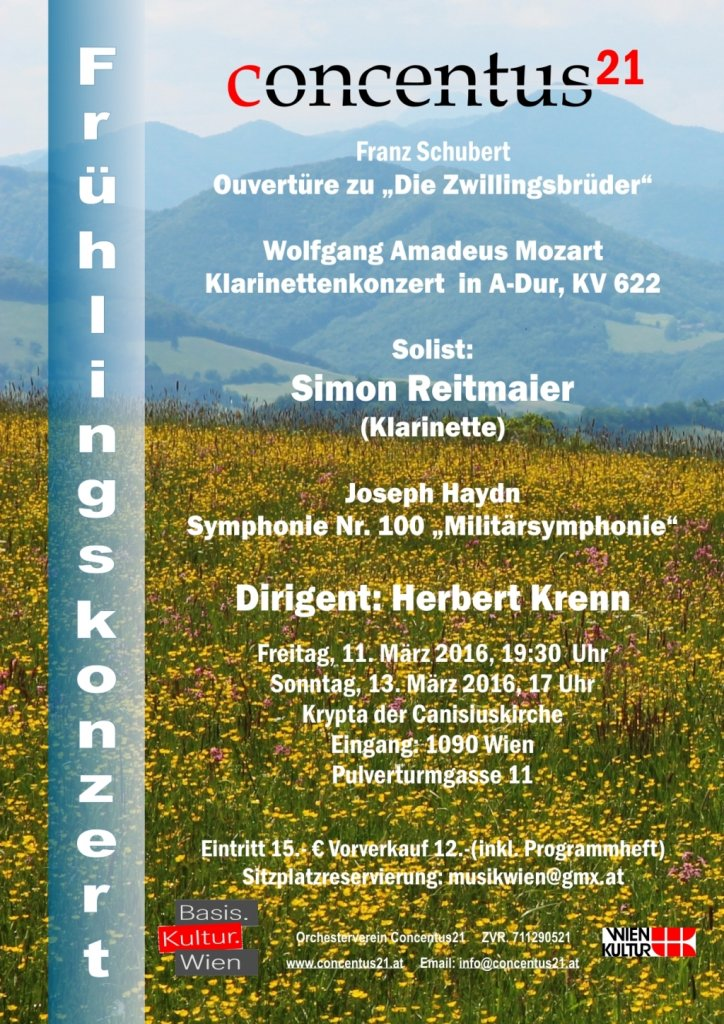 Konzertplakat Frühlingskozert