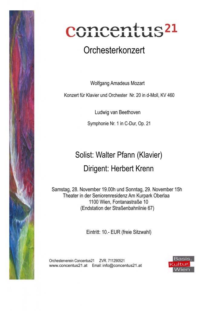 Konzertplakat zur Unterhaltung in Oberlaa
