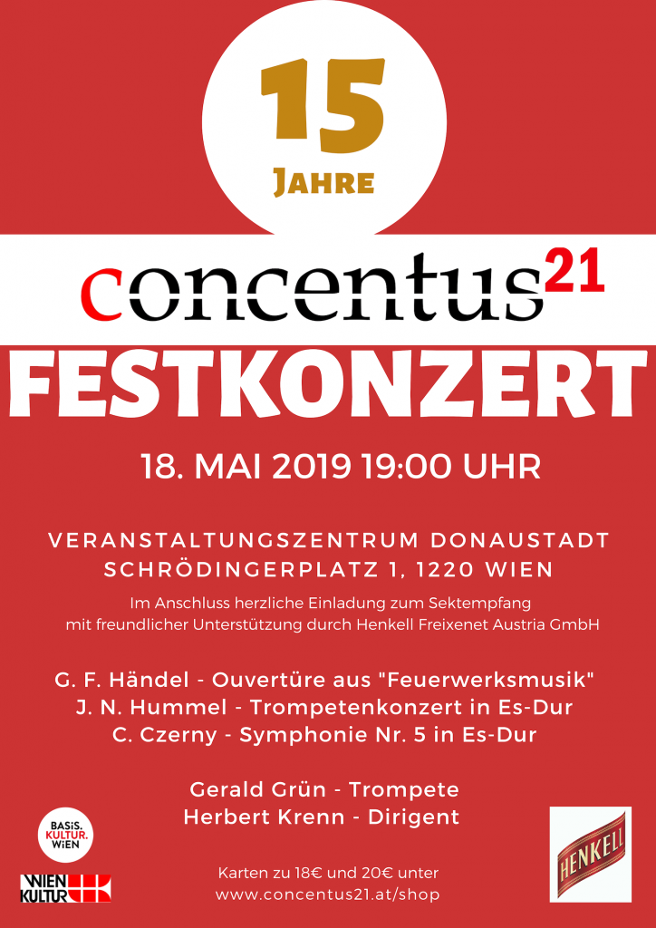 Plakat Festkonzert 18. Mai 2019