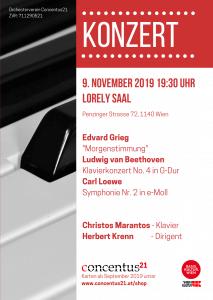 Konzertplakat November 2019