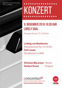 Konzertplakat November 2019 - 09. November 2019 Lorely Saal mit Solist Christos Marantos