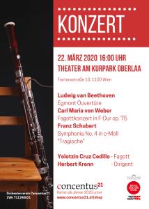 Plakat Klassik in Wien - Frühlingskonzert im Theater am Kurpark Oberlaa