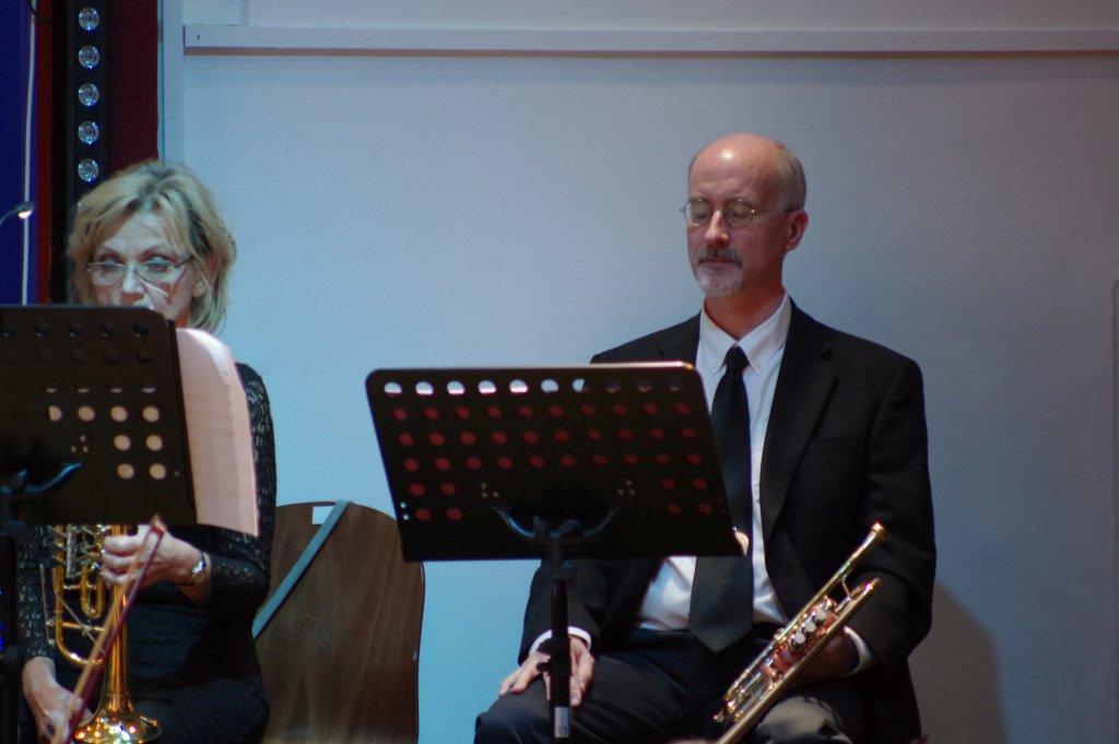 Eva und Peter an den Trompeten