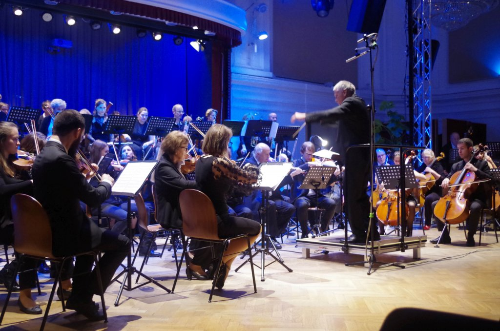 Orchester in Aktion