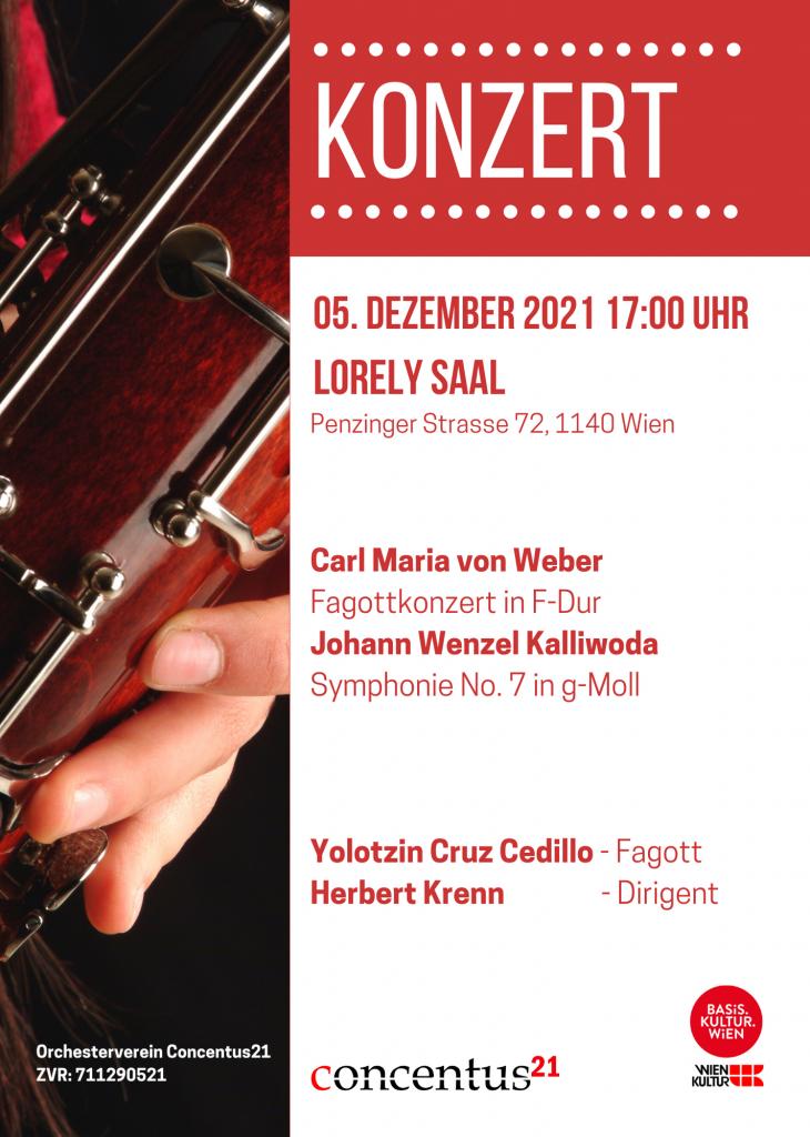 Plakat: Concentus21 Konzert am 5. Dezember 2021
