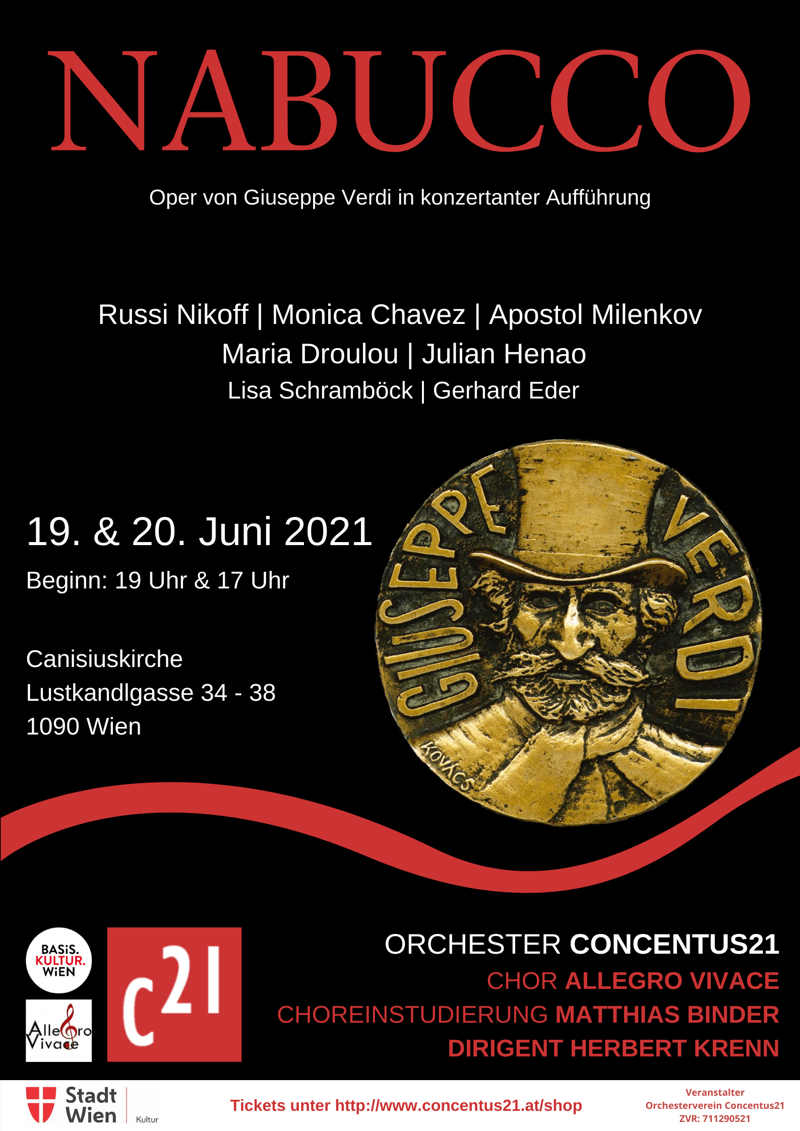 Plakat Opernprojekt Nabucco 2021